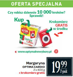 Krokomierz gratis do 2-paku Optimy